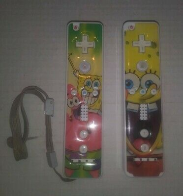 $ CDN36.90 • Buy Spongebob Original Nintendo Wii Remote Controller Lot Of 2 White Tested/Working