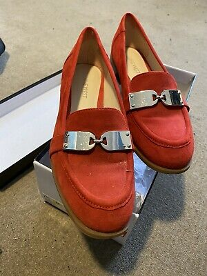 AU20.50 • Buy Nine West Women's Size 7 1/2M RedLeather Suede Flats