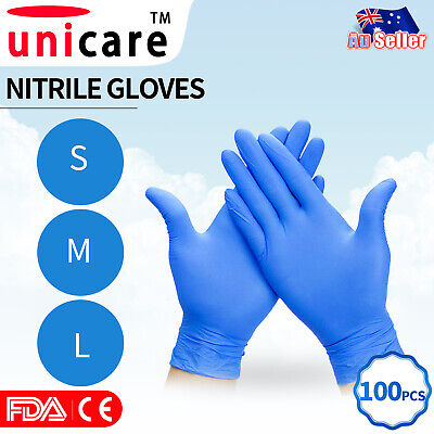 AU34.90 • Buy 100Pcs Industrial Nitrile Gloves Disposable Powder & Latex Free Medical/ Food AU