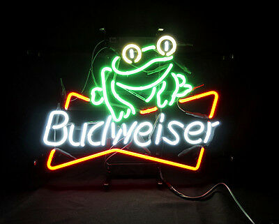 $ CDN143.37 • Buy Frog Pub Bar Beer Neon Sign Gift Custom Wall Neon Sign Painting Real Glass