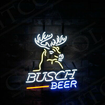 $ CDN143.37 • Buy  Busch Beer  Bar Deer Sign Vintage That Neon Sign Hanging Outside That Bar