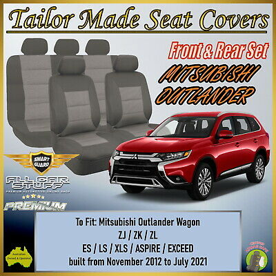 AU168.99 • Buy Premium Grey Seat Covers For Mitsubishi Outlander 5 Or 7 Seater: 11/2012 - ON