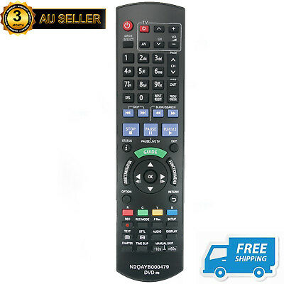 AU18.49 • Buy New N2QAYB000479 Remote Sub N2QAYB000644 For Panasonic DVD Recorder DMR-XW385