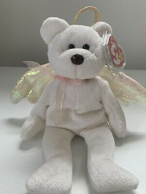 TY Beanie Babies HALO BEAR 31 August 1998 TAG Retired Rare Brown Nose • 49.99£