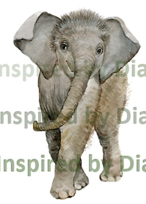 Self-adhesive Sticker From Painted Wall ,Baby Elephant, Childrens, Nursery 010 • 3.99£