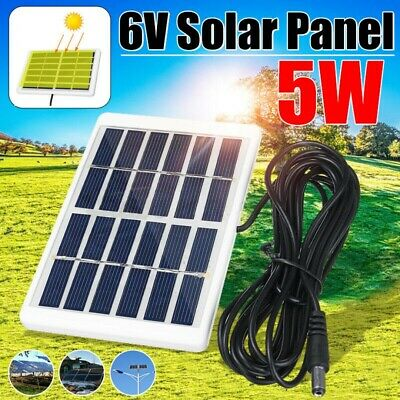 £3.99 • Buy 6V 5W USB Solar Panel Kit Tablet Phone Charger Portable Outdoor Camping Hiking