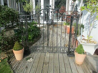 Decorative Steel Double Gate Set With Matching Posts • 12.50£