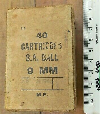AU10 • Buy WW2 Australian Military Carboard Box For 9mm Ammunition.