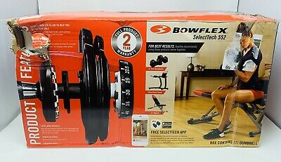 $ CDN479.94 • Buy NEW Bowflex SelectTech 552 SINGLE ONE Adjustable Dumbbell Weight 🔥SHIPS ASAP🔥