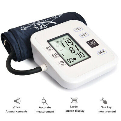Digital Voice Automatic Blood Pressure Monitor Upper Arm BP Machine 180 Memory • 13.89£