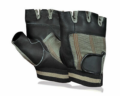 Grey Bus Chauffeur Limo Work Driving Stretch Gloves - REAL TOP QUALITY LEATHER! • 4.99£