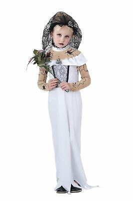 Girls Zombie Bride Costume Corpse Undead Kids Halloween Fancy Dress Outfit • 15.99£