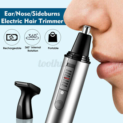 $ CDN15.44 • Buy Rechargeable 2 IN 1 Electric Ear Nose Hair Trimmer 360° Hair Removal