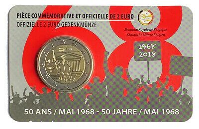 $ CDN1.32 • Buy €2 Euro Coin 2018 Belgium Albert II Events Of May 1968  	LA# BEM-8.24  From 1$