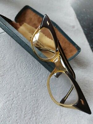 Vintage Spectacles In Original Case With Opticians Cleaning Cloth • 6.95£