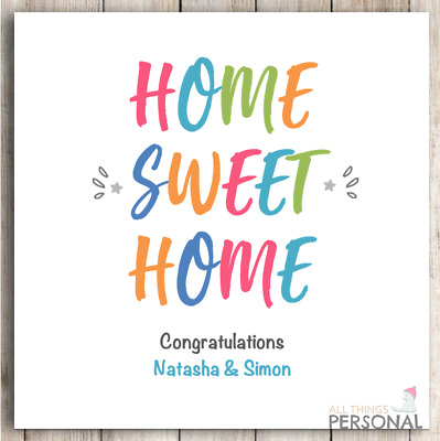 New Home Card Congratulation On Your First Home Card Moving Card House Warming  • 2.49£