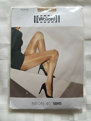 Wolford Neon 40 Tights, Cosmetic Color, Size Medium • 10£