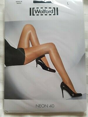 Wolford Neon 40 Tights, Black, Size Large • 10£
