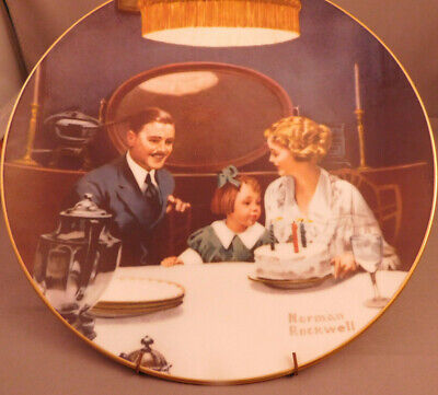 $ CDN24 • Buy 4 Limited Edition VINTAGE KNOWLES NORMAN ROCKWELL PLATES;
