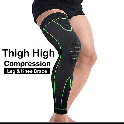AU13.99 • Buy Thigh High Compression Knee Brace Full Leg Sleeve Support Running Jogging Sports