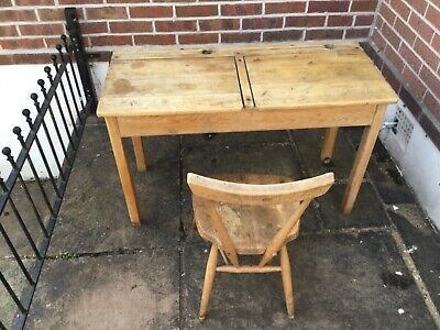 Child's Old School Desk And Ercol Chair • 25£