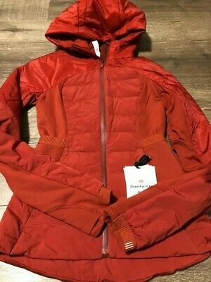 $ CDN100 • Buy Lululemon Down For It All Jacket Size 2 NWT Magma