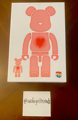 $519.99 • Buy EMOTIONALLY UNAVAILABLE X  BEARBRICK 400% 100% CLEAR RED BE@RBRICK MEDICOM RARE