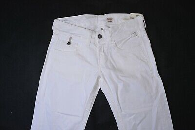 NWT Womans Replay Janice W28 L32 Baggy Bootcut Denim Jeans White RY48 • 27.12£
