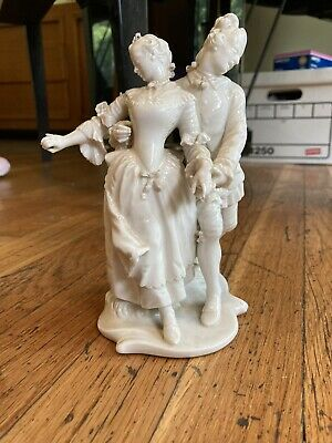 $ CDN52.73 • Buy White Porcelain Figurine Dancing Couple. Fine Detail. Some Imperfections