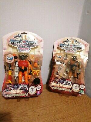 Biker Mice From Mars 2 X Carded Figures Afa/ Ukg  Modo And Claw Trooper • 35£