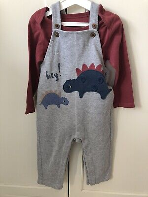 Baby Boys Dungarees Outfit 12-18 Months M&S • 2£
