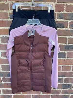 $ CDN56 • Buy Lululemon Lot Of 3: Vest, Long Sleeve Top & Skirt Size 6