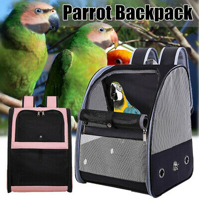 Portable Bird Parrot Pet Bag Carrier Breathable Travel Cage Carryin * • 41.98£