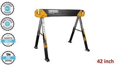 FOLDING STEEL SAWHORSE 42 In.Saw Horse Portable Pegs Jobsite Table TOUGHBUILT • 44.08£