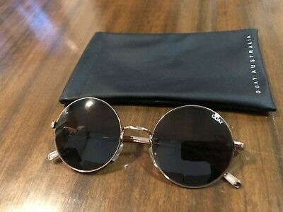AU30 • Buy BRAND NEW QUAY Round Sunglasses Rose Gold Frame With Brown Lens.