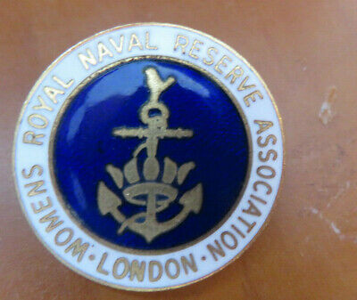 Royal Navy - Wrns Reserve- Gilt & Enamel Association Badge - London • 7£