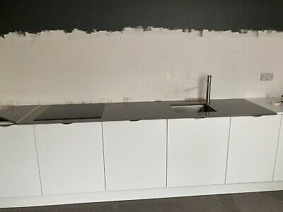£200 • Buy SMOKE GREY QUARTZ WORKTOP WITH SINK, TAP AND STD HOB CUT OUT. Inc Sink And Tap