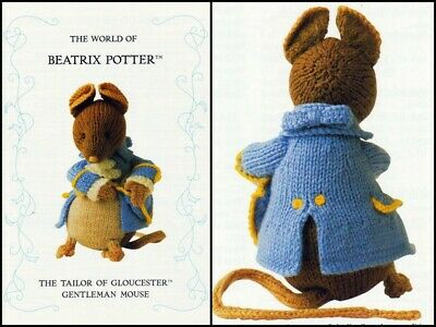 Beatrix Potter  Tailor Of Gloucester Gentleman Mouse Toy Tdb  Knitting Pattern  • 20£