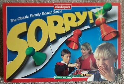 Sorry Board Game (1990's) Ages 5+ For 2-4 Players. Good Condition • 14.99£