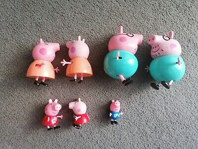 Peppa Pig Figures Full Family Mummy Daddy Peppa And George • 7.50£