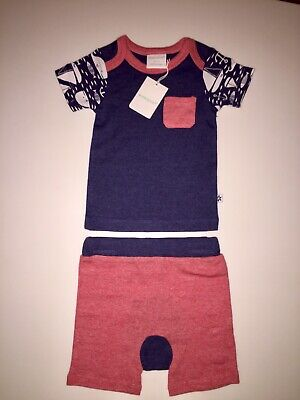 AU15 • Buy MARQUISE Navy/Red T-Shirt & Short Set *NEW WITH TAGS*
