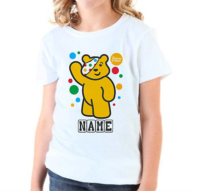 Personalised Children In Need T-shirt 2020 Pudsey Dress Up Boys Girls School Top • 8.99£