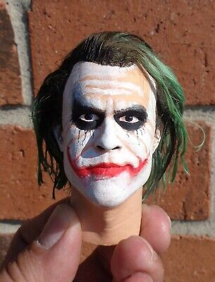 $12 • Buy 1/4 Scale Figure Custom The Joker Head Sculpt Hot Toys Enterbay Compatible H9