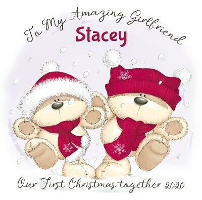 Personalised Girlfriend Christmas Xmas Card - Keepsake Our First Together 2020  • 2.49£