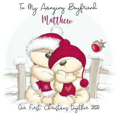 Personalised Boyfriend Christmas Xmas Card - Keepsake Our First Together 2020  • 2.49£