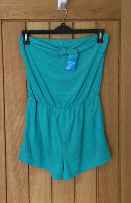 Matalan Aqua Green Bandeau Playsuit  Size Medium   New With Tags • 0.99£
