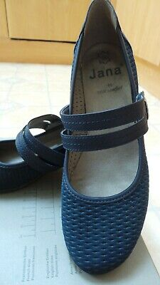 Ladies Navy Blue Smart Shoes 2 Strap Mary Jane's. Genuine Suade. Size 6.comfort. • 17£