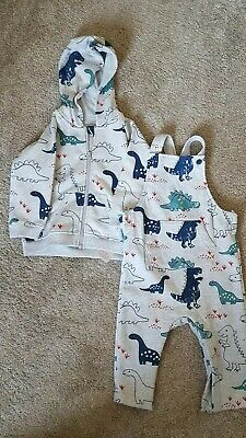 Dinosaur Jacket/Hoodie And Dungarees 12-18 Months M&S • 0.99£