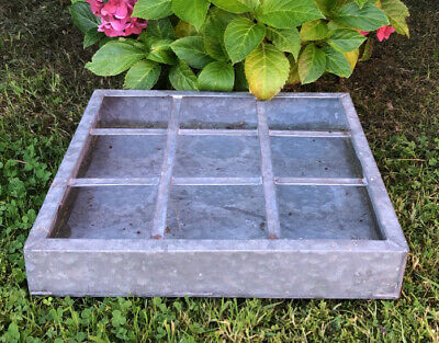Vintage Style Galvanised 9x Section Garden Trough Beautiful Planter Tray ~ Vgc! • 0.99£