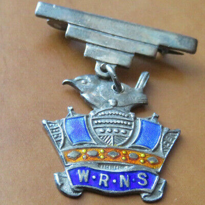 Royal Navy - Silver - Wrns - Vintage -  Brooch • 14.50£